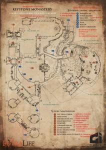 mapa en español del monasterio de keystone para lords of the fallen