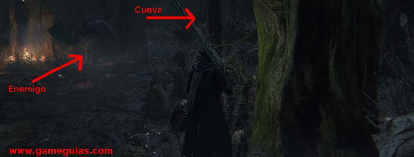Espera a que entre en la cueva